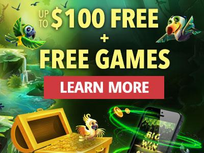 Up to one hundred dollars free plus free games. Learn more.