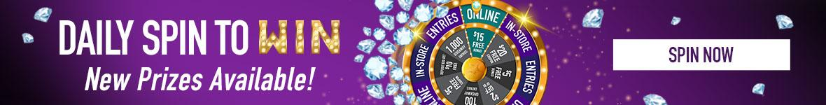 Michigan Lottery's Daily spin to win gives you the chance to be a winner everyday!