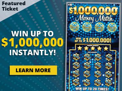 Featured ticket. Win up to one million dollars instantly! Learn more.