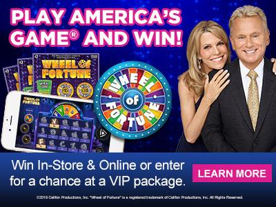 Play America's Game and win! Win in-store and online or enter for a chance at a VIP Package. Learn More.