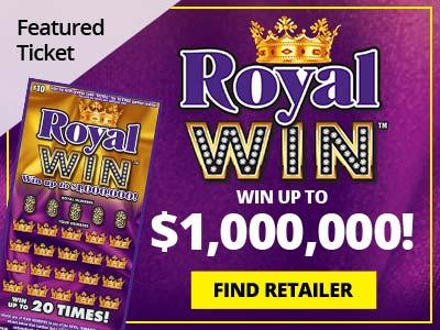 Featured ticket. Classic Black. Win up to two million dollars. Find Retailer.